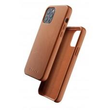 Чехол кожаный MUJJO для iPhone 12 / 12 Pro Full Leather, Tan