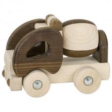 Машинка деревянная goki Бетономешалка (натуральный) 55912