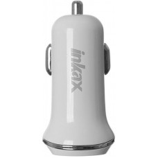 INKAX CD-13 Car charger + Type-C cable 2USB 1A White