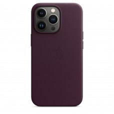 Чохол Apple iPhone 13 Pro Max Leather Case with MagSafe - Dark Cherry (MM1M3)