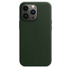 Чохол Apple iPhone 13 Pro Max Leather Case with MagSafe - Sequoia Green (MM1Q3)