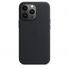 Чохол Apple iPhone 13 Pro Max Leather Case with MagSafe - Midnight (MM1R3)