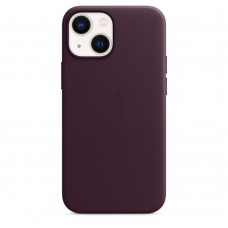 Чохол Apple iPhone 13 mini Leather Case with MagSafe - Dark Cherry (MM0G3)