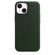 Чохол Apple iPhone 13 mini Leather Case with MagSafe - Sequoia Green (MM0J3)