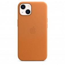 Чохол Apple iPhone 13 Leather Case with MagSafe - Golden Brown (MM103)