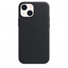 Чохол Apple iPhone 13 mini Leather Case with MagSafe - Midnight (MM0M3)