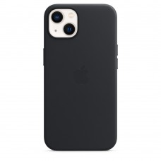 Чохол Apple iPhone 13 Leather Case with MagSafe - Midnight (MM183)