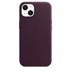 Чохол Apple iPhone 13 Leather Case with MagSafe - Dark Cherry (MM143)