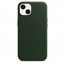 Чохол Apple iPhone 13 Leather Case with MagSafe - Sequoia Green (MM173)