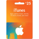 Подарочная карта iTunes Gift Card 25