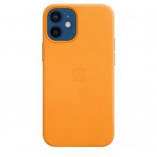 Чехол Apple iPhone 12 mini Leather Case - California Poppy (MHK63)