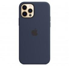 Чохол Apple iPhone 12 / 12 Pro Silicone Case - Deep Navy (MHL43)