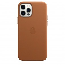 Чохол Apple iPhone 12 / 12 Pro Leather Case - Saddle Brown (MHKF3)