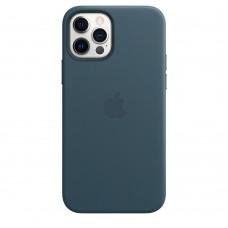 Чохол Apple iPhone 12 / 12 Pro Leather Case - Baltic Blue (MHKE3)