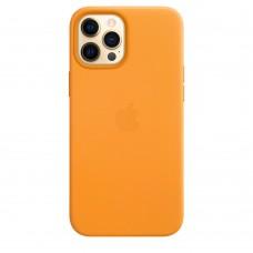 Чохол Apple iPhone 12 Pro Max Leather Case - California Poppy (MHKH3)