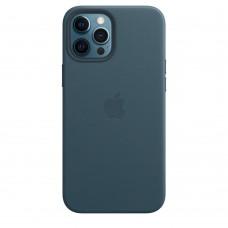 Чохол Apple iPhone 12 Pro Max Leather Case - Baltic Blue (MHKK3)