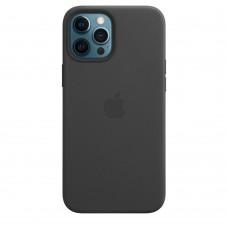 Чохол Apple iPhone 12 Pro Max Leather Case - Black (MHKM3)