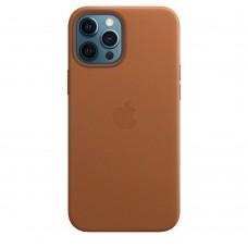 Чохол Apple iPhone 12 Pro Max Leather Case - Saddle Brown (MHKL3)