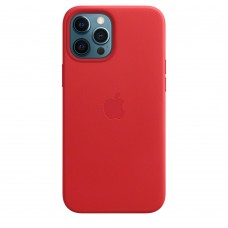 Чохол Apple iPhone 12 Pro Max Leather Case - PRODUCT RED (MHKJ3)
