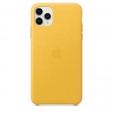Чохол Apple iPhone 11 Pro Max Leather Case - Meyer Lemon (MX0A2)