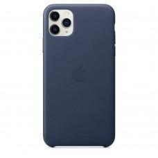 Чохол Apple iPhone 11 Pro Max Leather Case - Midnight Blue (MX0G2)