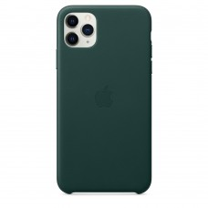 Чохол Apple iPhone 11 Pro Max Leather Case - Forest Green (MX0C2)