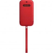 Чохол Apple iPhone 12 Pro Max Leather Sleeve with MagSafe - (PRODUCT) RED (MHYJ3)