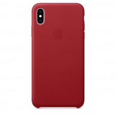 Чехол Apple iPhone XS Max Leather Case - PRODUCT RED (MRWQ2)