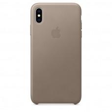 Чехол Apple iPhone XS Leather Case - Taupe (MRWL2)