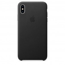 Чехол Apple iPhone XS Leather Case - Black (MRWM2)