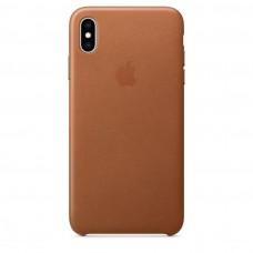 Чехол Apple iPhone XS Leather Case - Saddle Brown (MRWP2)