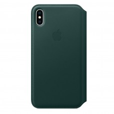 Чехол Apple iPhone XS Max Leather Folio - Forest Green (MRX42)