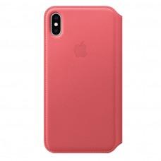 Чехол Apple iPhone XS Leather Folio - Peony Pink (MRX12)