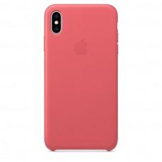 Чехол Apple iPhone XS Max Leather Case - Peony Pink (MTEX2)
