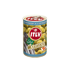 ITLV Оливки зеленые с анчоусом, 314 мл