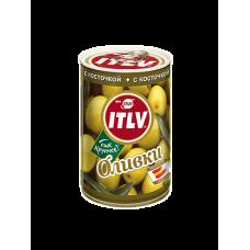 ITLV Оливки зеленые с косточкой, 314 мл