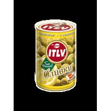 ITLV Оливки зеленые с лимоном, 314 мл