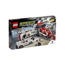 LEGO Конструктор LEGO Пит-лейн: Порше 919 Гибрид и Порше 917K, 75876