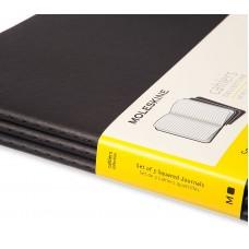 Записная книжка Moleskine Cahier XXL, 3 шт / Клетка Черный, QP332