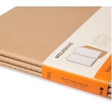 Записная книжка Moleskine Cahier XXL, 3 шт / Линейка Коричневый крафт, QP431