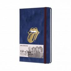 Записник Moleskine Rolling Stones середній / Лінійка Синій Велюр