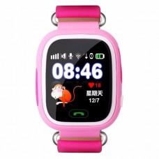 Детские умные сенсорные часы с GPS трекером Q150/Q100 Розовые