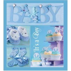 Альбом EVG 20sheet Baby collage Blue w/box