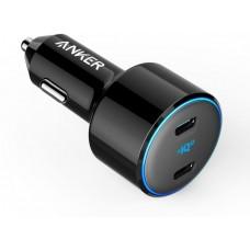 Авто зарядка ANKER PowerDrive+ III Duo - 30W PD + 18W USB-C (Черное) (A2725H11)