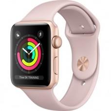 Розумний годинник Apple Watch Series 3 GPS 42mm Gold Aluminum w. Pink Sand Sport B. - Gold (MQL22)