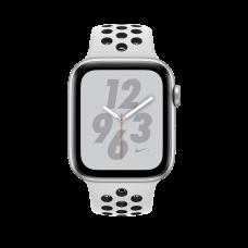 Розумний годинник Apple Watch Nike+ Series 4 GPS 44mm Silver Alum. w. Platinum/Black Nike Sport b. Silver Alum. (MU6K2)