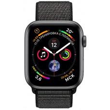 Розумний годинник Apple Watch Series 4 GPS 40mm Gray Alum. w. Black Sport l. Gray Alum. (MU672)