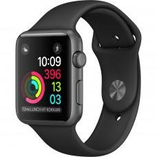 Розумний годинник Apple Watch Series 2 42mm Space Gray Aluminum Sport Band Black (140–210mm) MP062