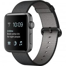 Розумний годинник Apple Watch Series 2 42mm Space Gray Aluminum Woven Nylon Black (145–215mm) MP072