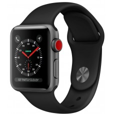 Розумний годинник Apple Watch Series 3 (GPS) 42mm Space Gray Aluminium with Black Sport Band MQK22